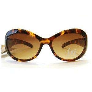 Women Small Oval Sunglasses Brown Tortoise